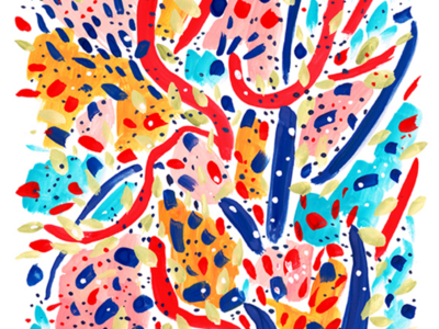 Abstract #1 background design abstract gouache painting art drawing illustration