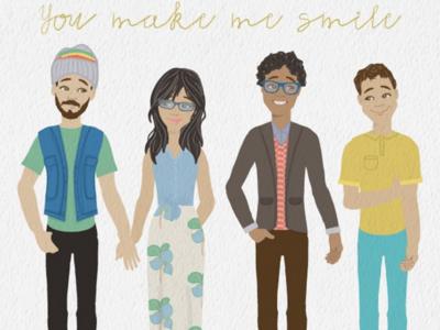 You make me smile illustration character creation female character vector people smile people illustratio