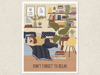 Don't forget to relax - greeting card