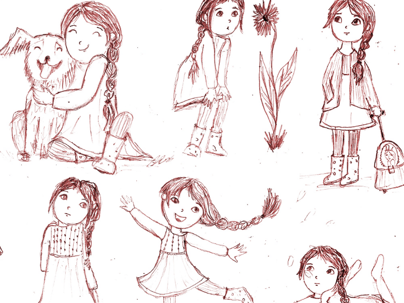 Character sketch children book kids character design character pencil drawing sketch illustration