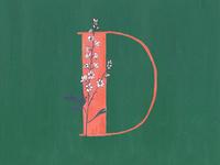 D for Delphinium
