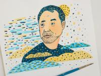 Haruki Murakami portrait