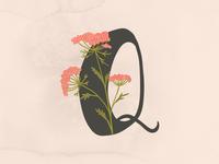 Floral Alohabet - Q