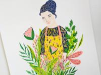Cooking woman portrait