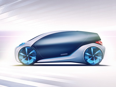 Electric vehicle concept car sketch electric vehicle concept illustration automotive cardesign power solar vehicle electric ev