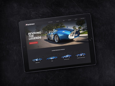 Car manufacturer website redesign website manufacturer vehicles cars dark ipad ux ui automotive racing