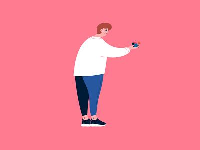 Character 1 - HOME vector design illustration characterdesign adobe illustrator
