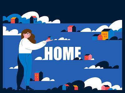 HOME 02 vector design graphicdesign illustration characterdesign adobe illustrator