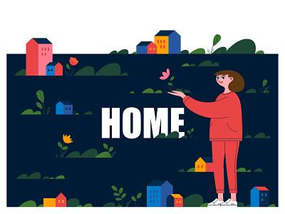 HOME 03 vector design graphicdesign illustration characterdesign adobe illustrator