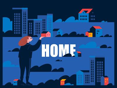 HOME 04 vector design graphicdesign illustration characterdesign adobe illustrator