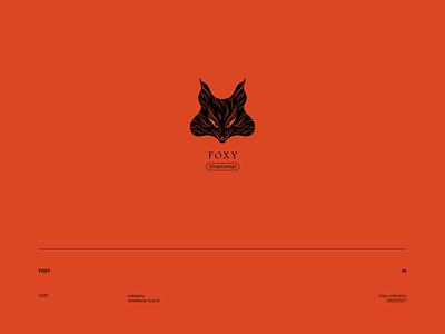 Logotype FOXY marks graphic design logofolio branding logo