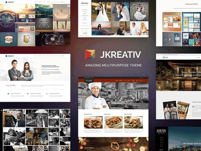 JKREATIV portfolio theme wordpress web ui