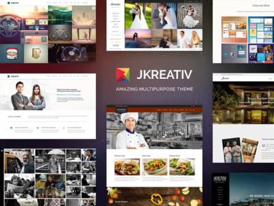 JKREATIV portfolio theme wordpress web ui