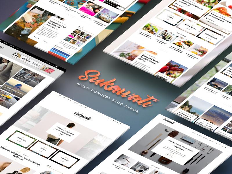 Sukawati ecommerce woocommerce shop personal food lifestyle fashion website blog theme ui wordpress
