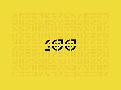 B100 - Exploration geometric 100 tile identity pattern branding brand