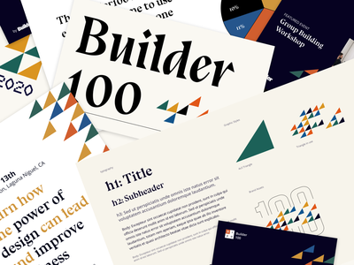 Builder100 - Branding Collage 100 type brand identity logo branding