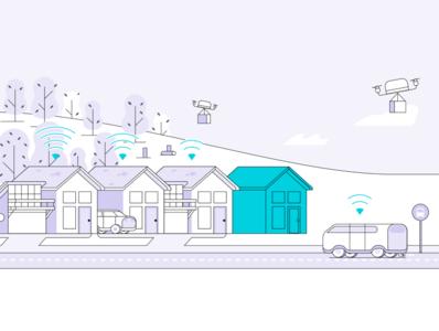 Master Plan Community illustration product iot cars drones illustration