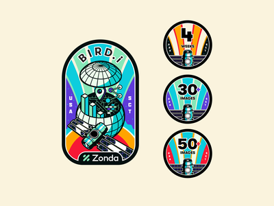 Birdi - Badge & Pins usa sct data satellite patch space badge