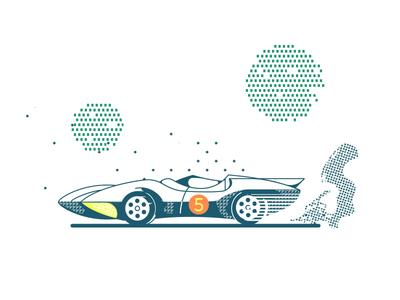Mach 5 illustration car racer speed mach five mach five mach 5