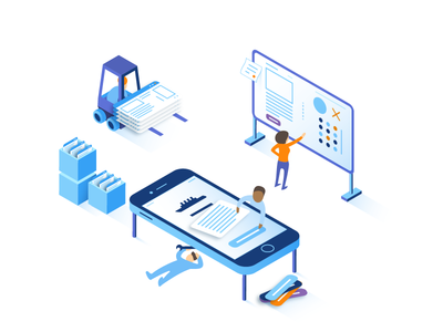 Building Custom Products process wonderstruk mobile character product illustration isometric