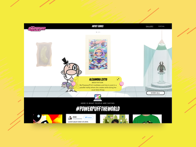 Powerpuff Girls - PowerPuff the World cartoon network ui concept gallery artist mayor girls powerpuff
