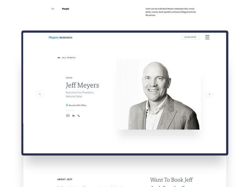 Meyers Research - People branding case-study ux ui meyers people