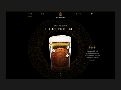 Icon Glassworks - Microsite shopping ux ui microsite craft beer glass