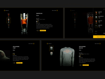 Icon Glassworks - Microsite (Continued) dark ui beer icon ux design ui typography branding