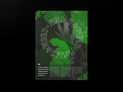 Ninjas & Weed - Poster type marijuana shuriken typography poster weed ninjas