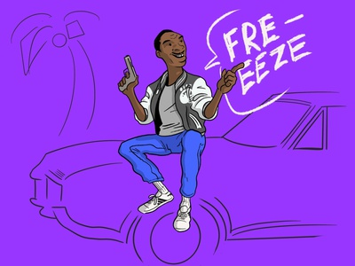 04 Inktober - Freeze inktober freeze procreate beverlyhills cop