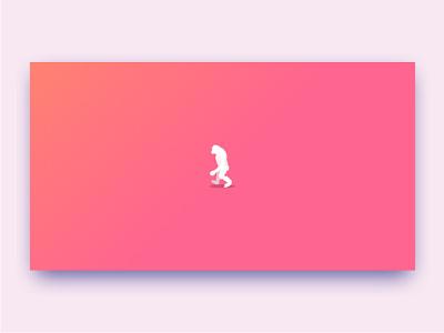 Loading walking ape for Sysmian© animation web vector design css animation svg animation illustration