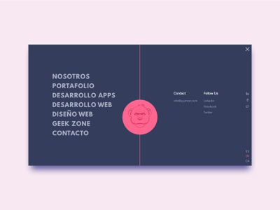 Opened menu for Sysmian© website typography ui web css animation design