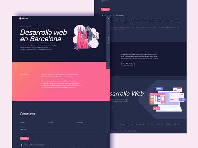 Sysmian© home web design dark mode website illustration web design