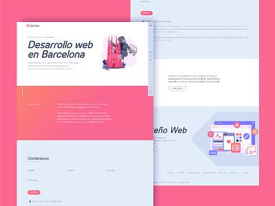 Sysmian© home page design (light mode) illustration website web design light mode