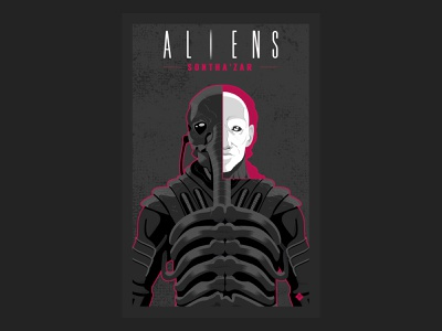 Aliens Sontha'zar nº1 aliens science fiction comic vector illustration