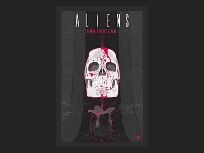 Aliens Sontha'zar nº2 aliens vector comic science fiction illustration
