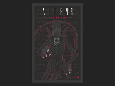 Aliens Sontha'zar nº3 comic aliens science fiction vector illustration