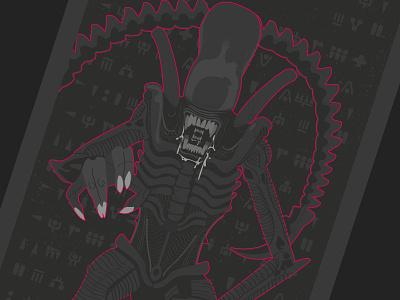 Aliens Sontha'zar nº3 detail science fiction comic aliens vector illustration