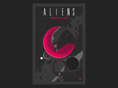 Aliens Sontha'zar nº4 aliens comic science fiction vector illustration