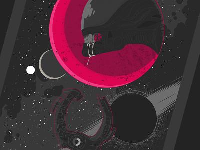 Aliens Sontha'zar nº4 detail comic aliens science fiction vector illustration