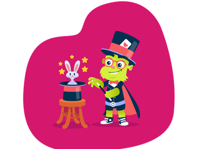 Orbit (Artístico) mascot character website illustration