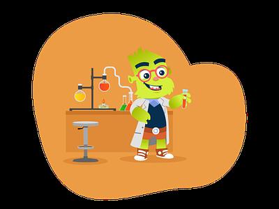 Orbit (Cognitivo) mascot character website illustration