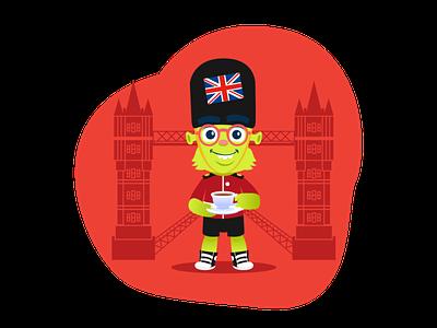Orbit (Lingüístico) mascot character website illustration