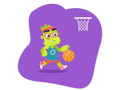 Orbit (Motriz) mascot character website illustration