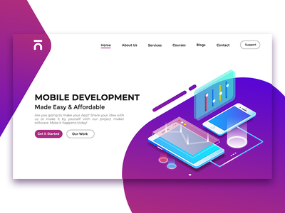 Mobile App Development Header flutter mobile mobileapp development interface mobile app app ui ux agency web ui-ux- design