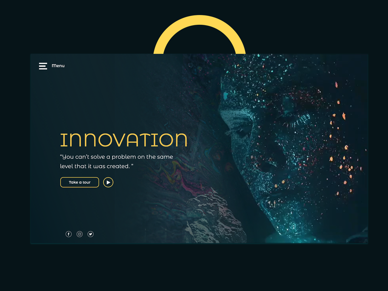 Innovation Header - UI Design inspiration innovation ui ux tempelate development web ui-ux- agency interface design