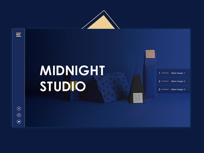 Midnight Website Header ui ux design development agency web ui-ux- interface