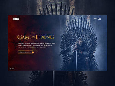 Game of Thrones - Header food mobile app development tempelate web ui ux ui-ux- interface design