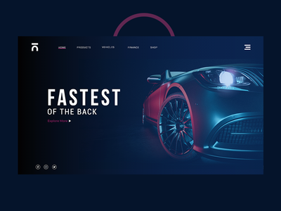 Car Header - Website user tempelate illustration web agency ui ux interface ui-ux- design