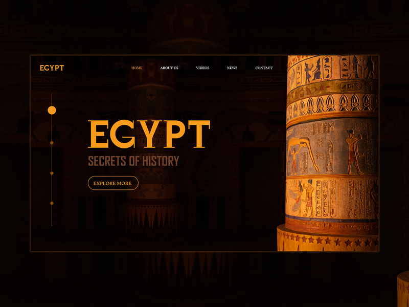 Egypt Culture -  Website Header culture egypt illustration web ui ux user development interface design